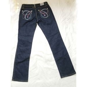 VTG Coogi Bedazzled Butt Jeans Low Rise Size 7 / 8